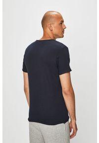 Niebieski t-shirt Brave Soul na co dzień, casualowy, gładki