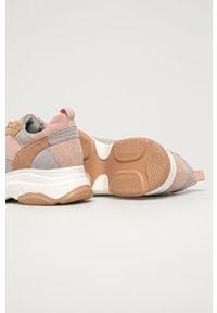 Różowe buty sportowe Answear Lab z okrągłym noskiem, z cholewką, na sznurówki