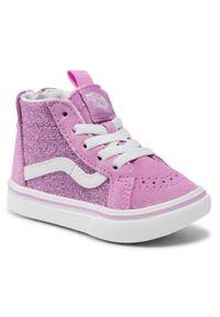 Vans - Sneakersy VANS - Comfycush Sk8-Hi VN0A4VJN31P1 (Glitter) Orchid/True Wht. Kolor: różowy. Materiał: skóra, zamsz. Szerokość cholewki: normalna. Wzór: aplikacja