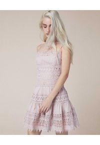 CHARO RUIZ IBIZA - Sukienka z koronki Joya. Okazja: na co dzień. Kolor: beżowy. Materiał: koronka. Długość rękawa: na ramiączkach. Wzór: koronka. Sezon: lato. Styl: casual. Długość: mini