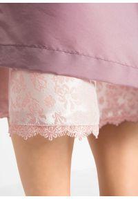 Sukienka ludowa z fartuchem, długość do łydki bonprix stary jasnoróżowy wzorzysty. Kolor: różowy. Materiał: koronka. Styl: retro
