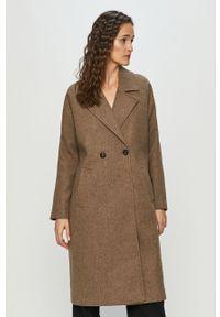 Brązowy płaszcz Vero Moda casualowy, na co dzień