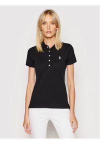 Polo Ralph Lauren Polo Julie 211505654114 Czarny Slim Fit. Typ kołnierza: polo. Kolor: czarny