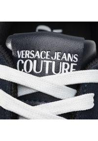 Niebieskie półbuty Versace Jeans Couture z cholewką