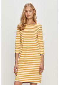 Vila - Sukienka. Okazja: na co dzień. Kolor: żółty. Typ sukienki: proste. Styl: casual