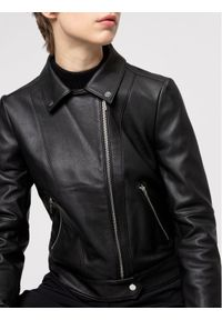 Hugo Kurtka skórzana Lelari 50443309 Czarny Regular Fit. Kolor: czarny. Materiał: skóra