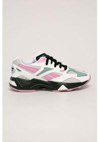 Różowe buty sportowe Reebok Classic na sznurówki, na obcasie