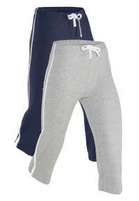 Niebieskie spodnie bonprix sportowe, melanż