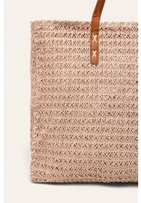 Różowa torba plażowa ANSWEAR duża, na ramię