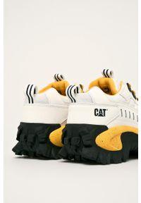 Białe sneakersy CATerpillar z cholewką, na sznurówki