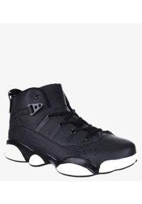 Casu - Czarne buty sportowe sznurowane casu 201d/bw1. Kolor: czarny