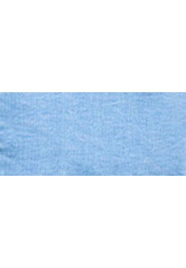 Niebieski żakiet Monnari z długim rękawem, z klasycznym kołnierzykiem, długi, na wiosnę