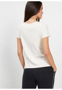 Biała bluzka bonprix w ażurowe wzory