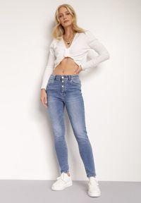 Renee - Niebieskie Jeansy Dianina. Kolor: niebieski. Długość: długie. Styl: elegancki