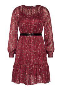 Czerwona sukienka koktajlowa iBlues wizytowa