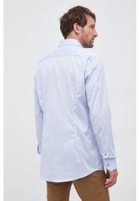Eton - ETON - Koszula bawełniana. Typ kołnierza: kołnierzyk klasyczny. Kolor: niebieski. Materiał: bawełna. Długość rękawa: długi rękaw. Długość: długie. Wzór: gładki. Styl: klasyczny