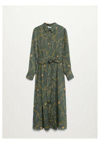 Zielona sukienka mango koszulowa