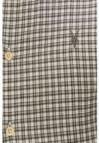 AllSaints - Koszula bawełniana. Typ kołnierza: kołnierzyk klasyczny. Kolor: szary. Materiał: bawełna. Długość rękawa: długi rękaw. Długość: długie. Styl: klasyczny