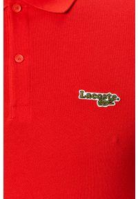 Czerwona koszulka polo Lacoste polo, casualowa, krótka, na co dzień