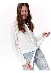 Biała koszula TROLL na co dzień, elegancka, w kolorowe wzory