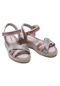 Mayoral - Espadryle MAYORAL - 43281 Ballet 97. Kolor: różowy. Materiał: skóra ekologiczna. Wzór: aplikacja. Sezon: lato