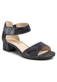 Niebieskie sandały Caprice na co dzień, casualowe