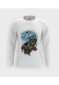 MegaKoszulki - Koszulka męska z dł. rękawem Nurek na fali. Materiał: bawełna