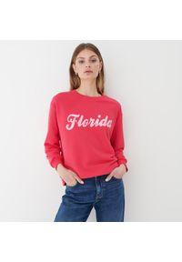 Mohito - Bluza z nadrukiem - Różowy. Kolor: różowy. Wzór: nadruk