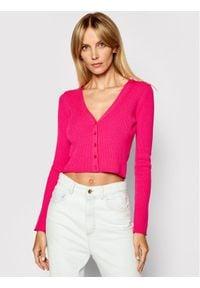 Kontatto Kardigan 3M7263 Różowy Slim Fit. Kolor: różowy