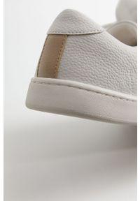 Białe buty sportowe Mango Man z cholewką, z okrągłym noskiem