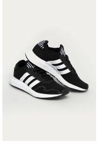 Czarne sneakersy adidas Originals z cholewką, do biegania, na sznurówki, z okrągłym noskiem