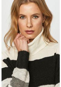 Szary sweter Jacqueline de Yong z długim rękawem, z golfem