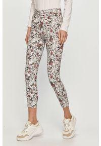 Białe spodnie materiałowe Desigual
