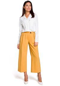Żółte spodnie MOE eleganckie