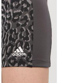 Adidas - adidas - Szorty. Kolor: szary. Materiał: dzianina