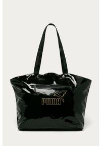 Czarna shopperka Puma duża, na ramię