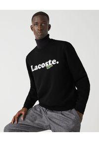 Lacoste - LACOSTE - Bawełniana bluza z logo. Kolor: czarny. Materiał: bawełna. Długość rękawa: długi rękaw. Długość: długie. Styl: klasyczny