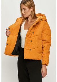 Pomarańczowa kurtka Noisy may casualowa, z kapturem, na co dzień