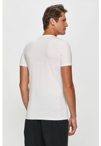 Biały t-shirt Calvin Klein Jeans casualowy, na co dzień, z okrągłym kołnierzem