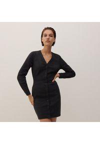 Reserved - Jeansowa sukienka - Czarny. Kolor: czarny. Materiał: jeans