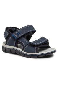 Primigi - Sandały PRIMIGI - 7398300 M Azzurr. Kolor: niebieski. Materiał: skóra, nubuk, materiał. Sezon: lato. Styl: wakacyjny
