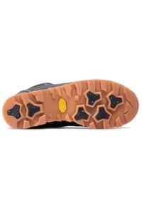 Szare buty trekkingowe Aku z cholewką
