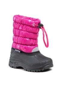 Playshoes - Śniegowce PLAYSHOES - 193015 Pink 18. Okazja: na spacer. Kolor: różowy. Materiał: materiał. Szerokość cholewki: normalna. Wzór: aplikacja