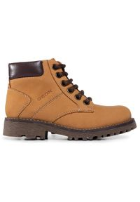 Żółte buty zimowe Geox z cholewką, na spacer