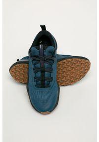 Niebieskie sneakersy columbia z cholewką, na sznurówki