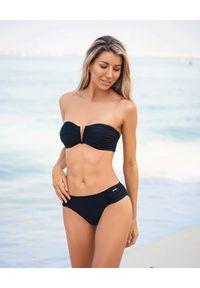 CAHA CAPO - Top od bikini Aidy. Kolor: czarny. Materiał: materiał