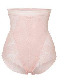 Figi panty shape Level 2 bonprix pastelowy jasnoróżowy. Kolor: różowy. Materiał: koronka. Wzór: koronka