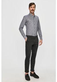 Szara koszula Emanuel Berg na co dzień, button down, casualowa, długa