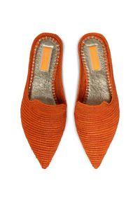 Pomarańczowe klapki Patrizia Pepe