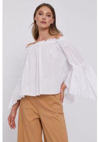 Biała bluzka Patrizia Pepe na co dzień, długa